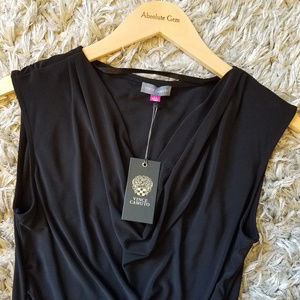 NWT Vince Camuto Black Cowl Neck Sleeveless Tank M